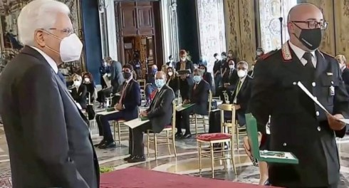 Ettore Cannabona al Quirinale insignito dal presidente Mattarella