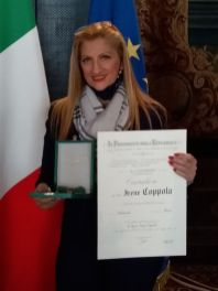 Irene Coppola Cavaliere della Repubblica