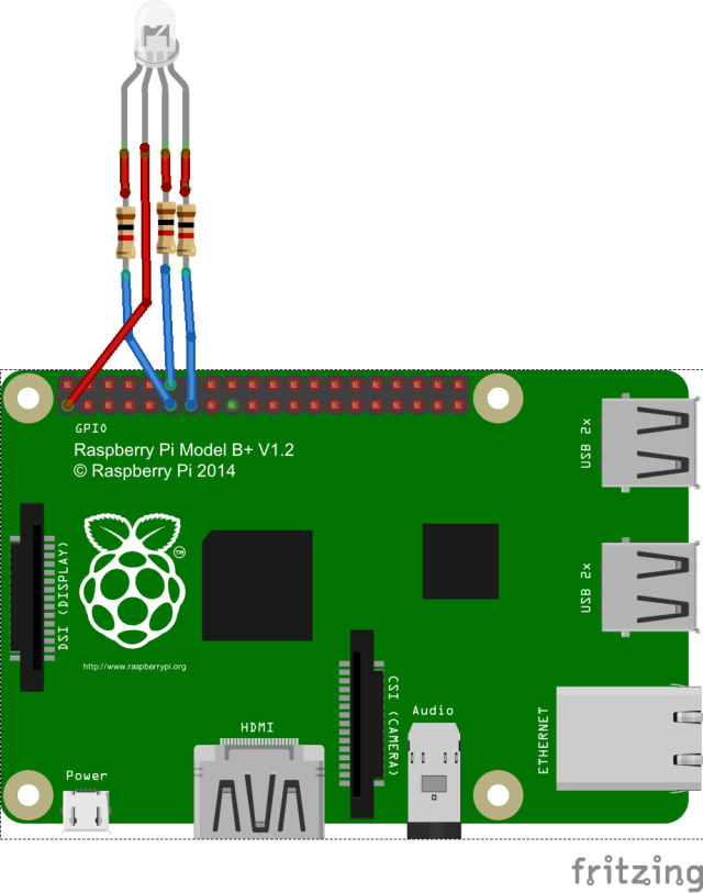 Pi and RGB Led WiringPi_bb