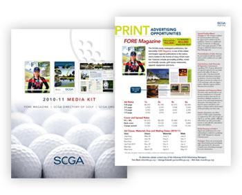 Magazine Media Kit Design: Southern California Golf Association