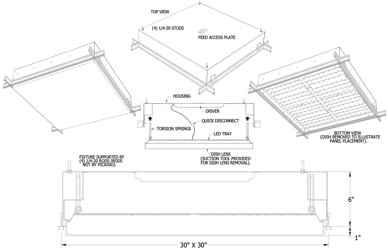 Direct Indirect 2x4 Light Fixture