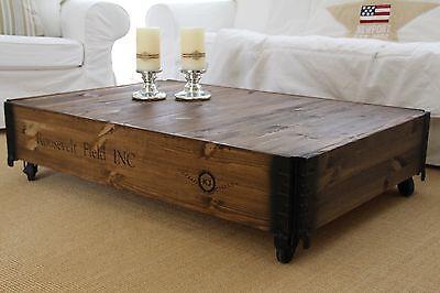 table basse table de salon table basse bois massif vintage shabby loft retro m