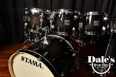 TAMA DRUMS SET Superstar Classic Maple Transparent Black Burst 7     2 of 12 Tama drums set Superstar Classic Maple Transparent Black Burst 7  piece kit NEW