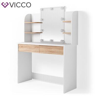 Vicco Table De Maquillage Charlotte Commode De Coiffeuse Miroir Led Blanc Sonoma Eur 154 90 Picclick Fr