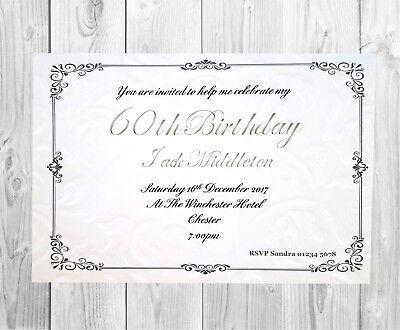 10 X 60th Birthday Party Invitation