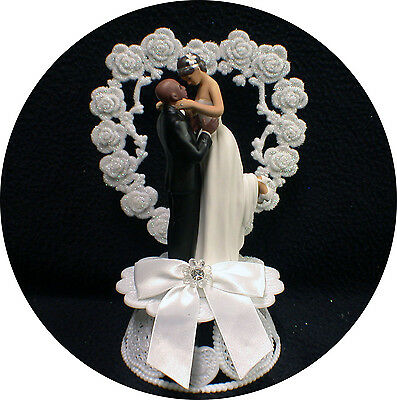 BALD AFRICAN AMERICAN GROOM Wedding Cake Topper PICK Caucasian or     5 of 7 Bald African American Groom Wedding Cake Topper PICK Caucasian or  Black Bride