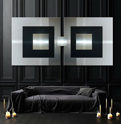 Original Abstrait Metal Image 3d Design Moderne Tableau Mural Xxl Noir Eur 365 40 Picclick Fr