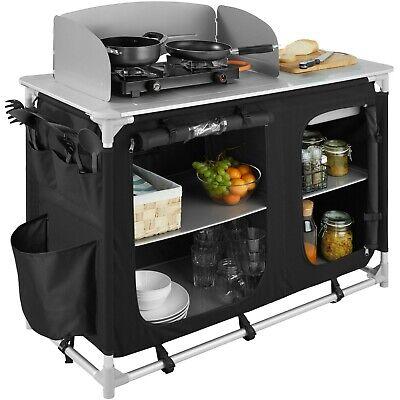 cuisine de camping aluminium mobilier armoire placard table d exterieur noir