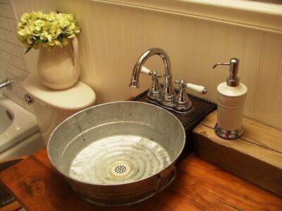 small hand wash galvanized bucket tub