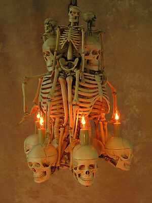 8 Of 9 Skeleton Chandelier Prop Human Skeletons