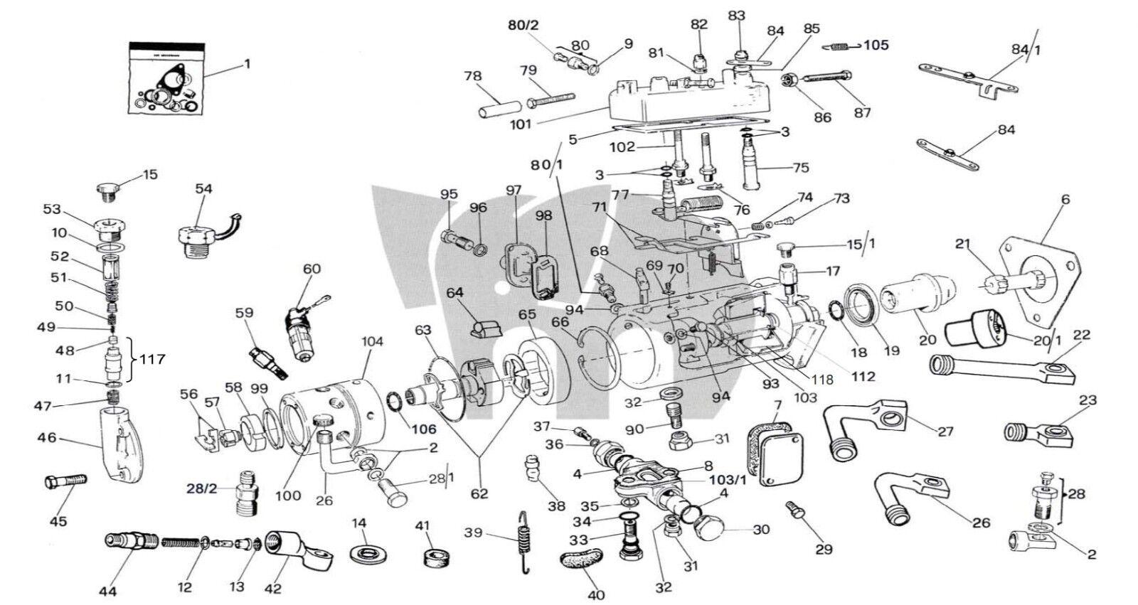 Cav Gasket Seals Kit 2 3 4 6 Cylinder Injection Pump Roto Sel 110 Genuine
