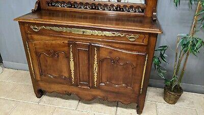 ancien buffet vaisselier en bois merisier meuble 19 eme