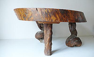 table basse tronc arbre design style perriand annees 50 vintage loft 1950