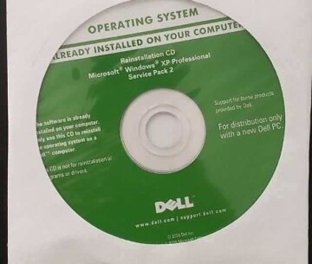 Dell Reinstall Cd Windows Xp Pro Sp 2 0ut879 Sealed New Free Shipping