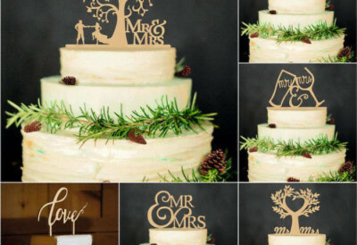 Gifts Cake Decorations Wedding Supplies Bride And Groom Wood Cake