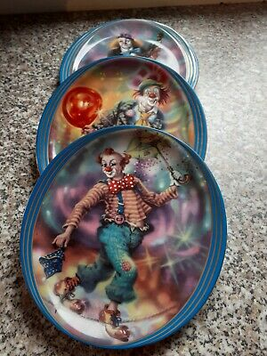 Collection plate clowns from Annaburg, limited with number, very good condition