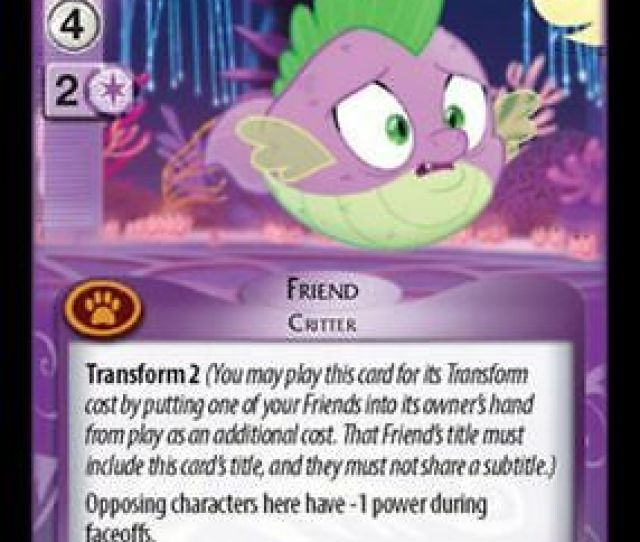 1x Spike Puffer Up 44 R My Little Pony Seaquestria Beyond Mlp Ccg
