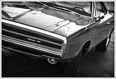 dodge charger rt 1970 poster 19 x 13