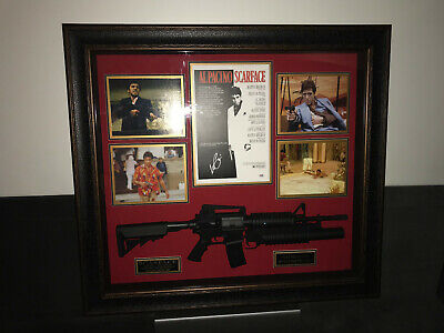 autographed scarface poster and framed