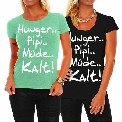 Damen T Shirt Hunger I Fuck On The First Date Lustiges Spruch