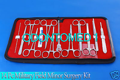 172 PC US Military Field Minor Surgery Surgical Veterinary Dental     14 Pc Military Field Minor Surgery Surgical Veterinary Dental Instrument Kit