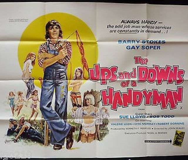 The Ups And Downs Of A Handyman Original Quad  Poster Barry Stokes Sue Lloyd