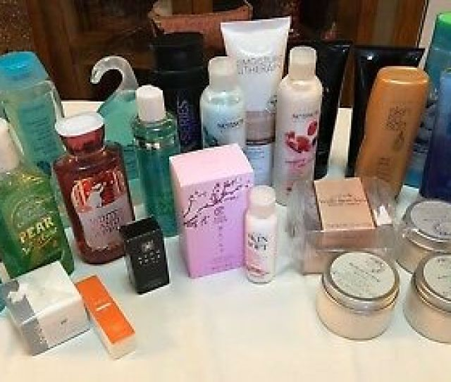 Huge Lot Of Avon Bbw Products Cologne Shower Gel Lotions Anew