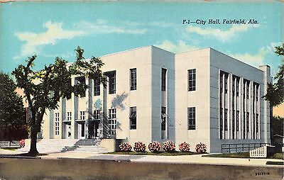 Fairfield Alabama Ville Hall ~ EHLER'S News Puiblished Carte Postale