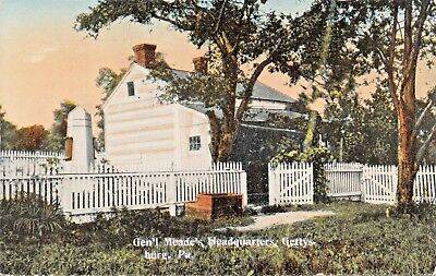 Gettysburg Pa ~ Civil War General MEADE'S Headquarters Postcard