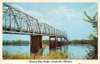 Huntsville Alabama Clement Clay Pont Carte Postale 1961 Pstmk Redstone