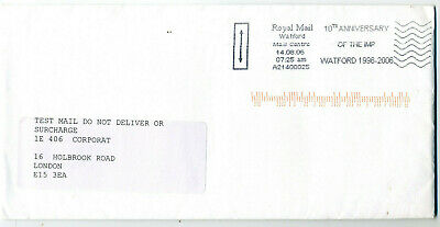 Used 2006 Sequence Sort Test Mail Birmingham with backup Watford ALF10yr pmk tst