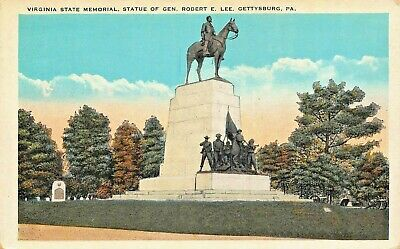 Gettysburg Pa ~ Civil War-Virginia Memorial-Statue Général Robert E Lee Postale