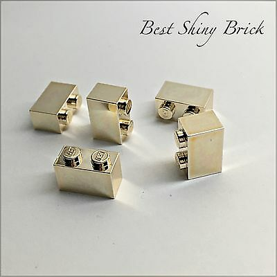 LEGO CHROME GOLD Brick 1x2  New        2 95   PicClick UK 2 of 3 Lego Chrome Gold Brick 1x2  New