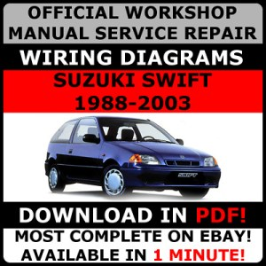 # OFFICIAL WORKSHOP Service Repair MANUAL SUZUKI SWIFT RS 20042011 WIRING  £874 | PicClick UK