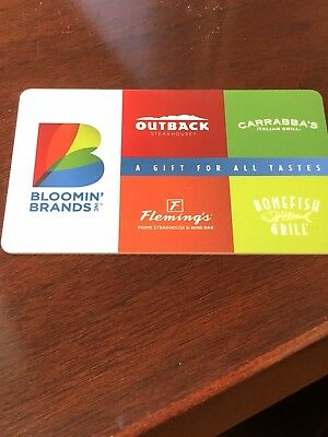 Bloomin Brands Gift Card 50 Outback Carrabba S Bonefish Grill