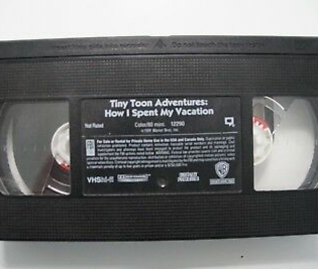 Tiny Toon Adventures How I Spent My Vacation Vhs 1992