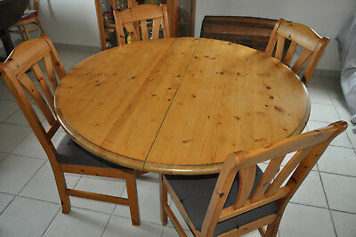 table interior s ronde ovale pin epicea massif 2 rallonges interiors