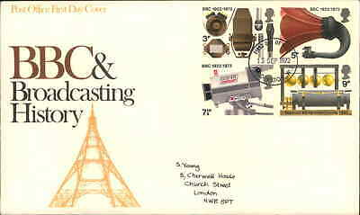 Fdc First Day Cover Issue Stamps Uk Royal Mail Bbc Broadcasting History 1972