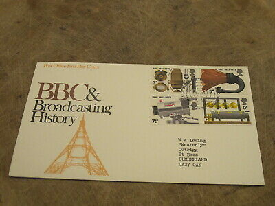 1972 GB First Day Cover - BBC Broadcasting History - Radio & TV
