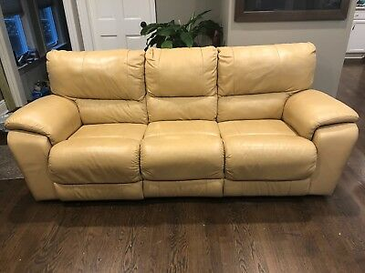 italian leather sofa recliner butter