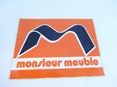 autocollant sticker vintage monsieur meuble furniture shop top