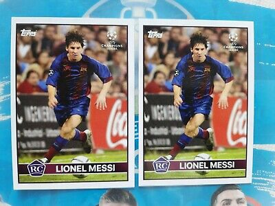 Topps Now Lost Rookie Card 2004-2005 Invest Lot(2) Lionel Messi Rc Limited Sp ????