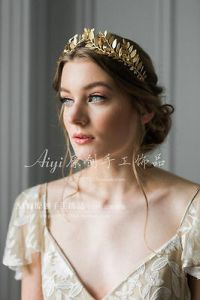 EXQUISITE GOLD PROM Hair Accessory Bridal Crown Tiara Headdress     Exquisite Gold Wedding Bride Hair Accessories Prom Party Crown Tiara  Headdress