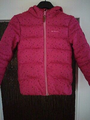 M Quechua winter jacket down jacket for girls in size.  110 pink used