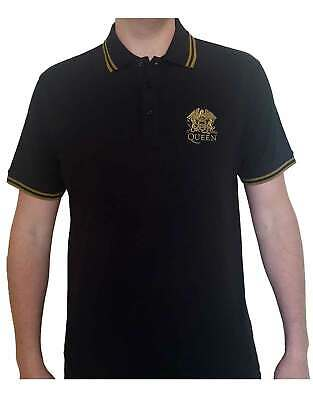 Queen Polo Shirt Embroidered Classic Band Logo Crest new Official Unisex