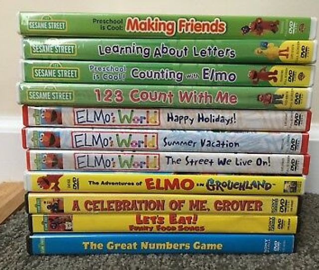 Lot Of 12 Sesame Street Elmos World Dvds Very Good Condition