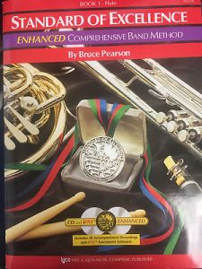 Wind   Woodwinds  Instruction Books  CDs   Video  Musical     Standard of Excellence Enhanced Book 1   Flute  CD s Included