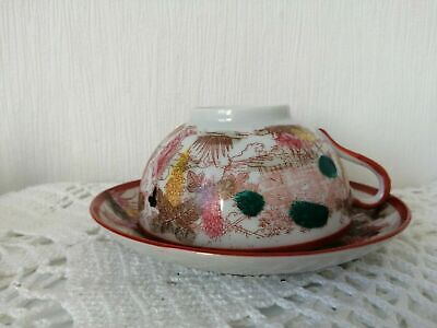 ancienne tasses a cafe ou the soucoupe en porcelaine extrafine japonaise 2