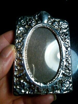 R.h Birmingham Hallmark Embossed 958 Sterling Silver Fronted Picture Frame