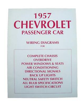 57 chevy wiring diagram 1957 chevrolet new  995  picclick
